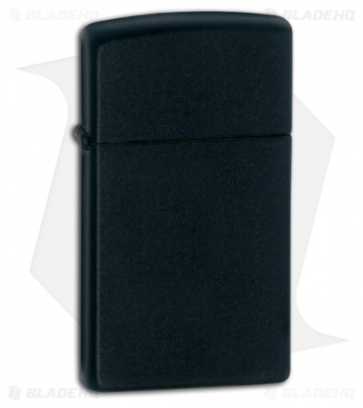 Zippo Lighter Slim Black Matte Licorice 1618