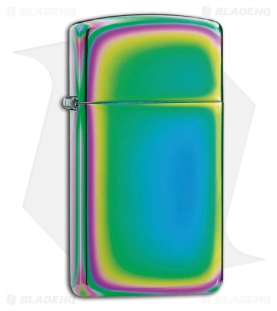 Zippo Lighter Slim Spectrum Rainbow Finish 20493