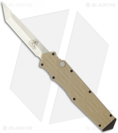 "A.R.S. Gen III OTF Tan Automatic Tanto Knife (3.5"" Plain)"
