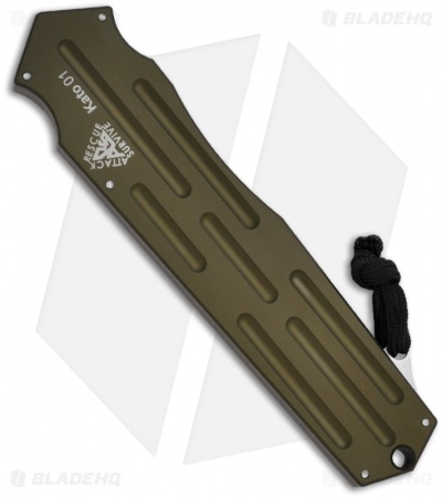 "A.R.S. Kato OTF Knife OD Green Single Action Automatic Tanto (3.5"" Satin Plain)"