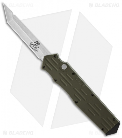 "A.R.S. Gen III OTF Green Automatic Tanto Knife (3.5"" Plain)"