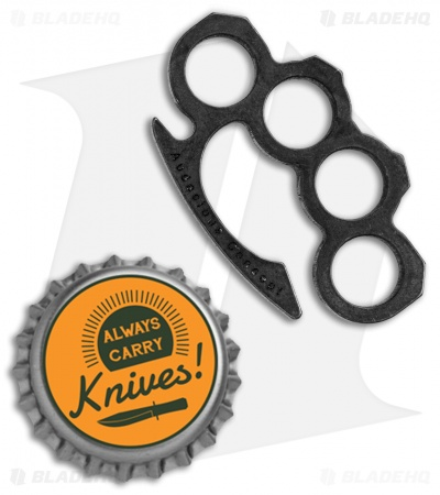Audacious Concept Knucklip Key Chain Knuckle Clip V1 - Black Steel