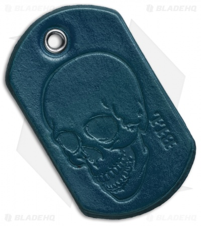 "Bad Love Leather 2.5"" Blue Dog Tag"