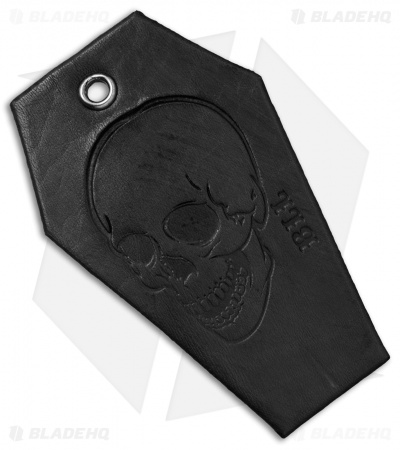 "Bad Love Leather 3.25"" Black Coffin Tag"