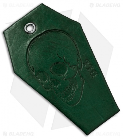 "Bad Love Leather 3.25"" Green Coffin Tag"