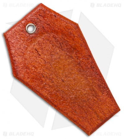"Bad Love Leather 3.25"" Orange Coffin Tag"