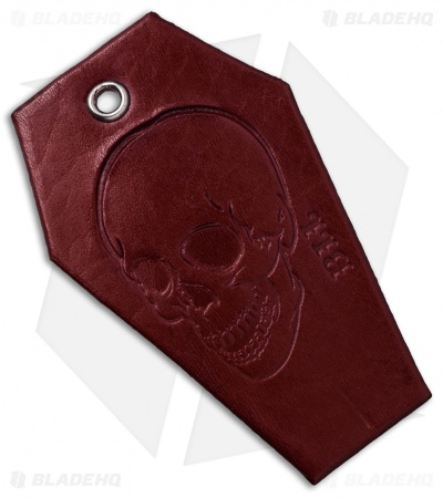 "Bad Love Leather 3.25"" Red Coffin Tag"