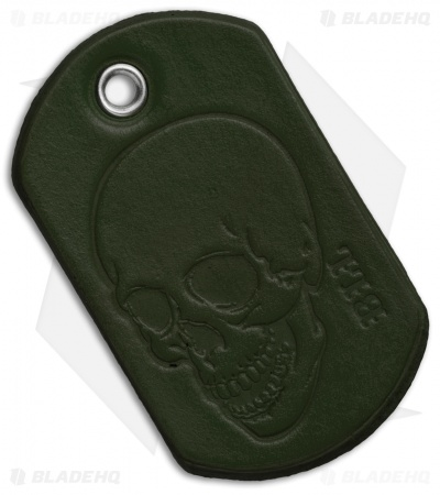 "Bad Love Leather 2.5"" OD Green Dog Tag"
