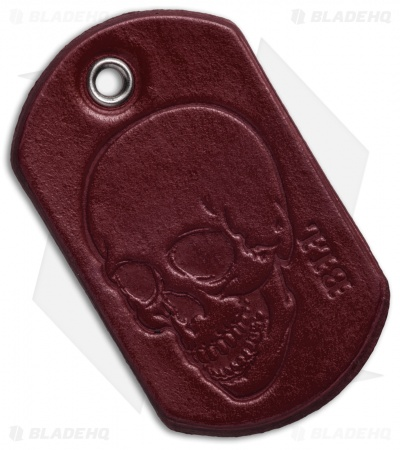 "Bad Love Leather 2.5"" Red Dog Tag"