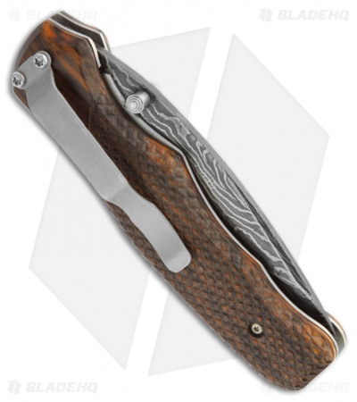 "Bear OPS Rancor Manual Folder Cocobolo Knife (3.25"" Damascus)"