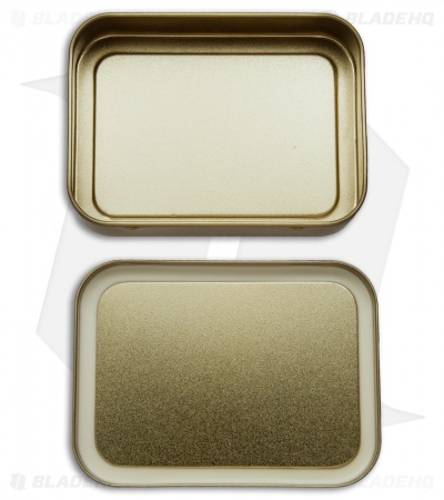 Best Glide ASE Large Gold Survival Tin (Empty)