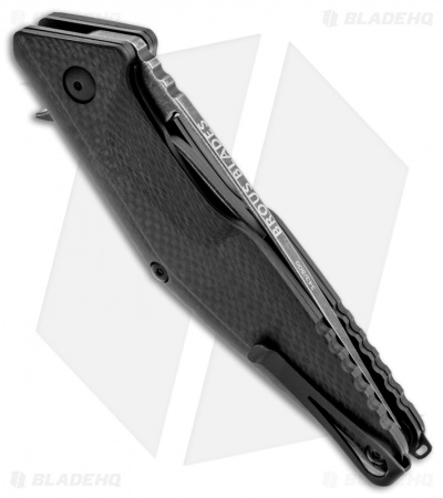 "Brous Blades Division Flipper Knife Carbon Fiber (4.37"" Acid Wash)"