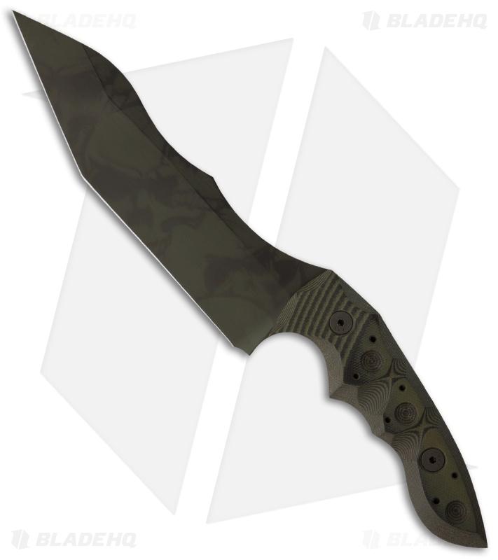 J. Brous Knives Custom JB-119 Fixed Blade Knife Green ...   711 x 800 jpeg 59kB