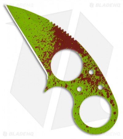 Brous Blades Silent Soldier V1 Zombie Green Neck Knife Fixed (2.5 Plain)
