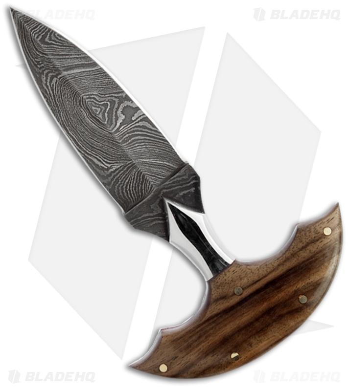 Buck N Bear Push Fixed Blade Knife Walnut Handle 3 25
