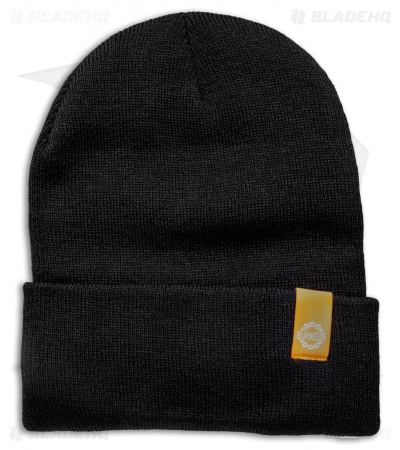 Burnside Knives Acrylic Beanie - Black w/ Orange Logo