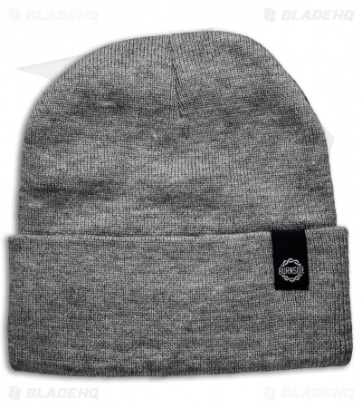 Burnside Knives Beanie - Gray w/ Black Logo