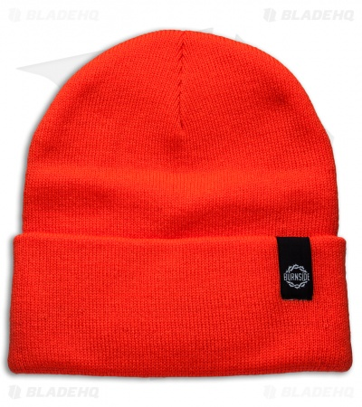 Burnside Knives Acrylic Beanie - Orange w/ Black Logo