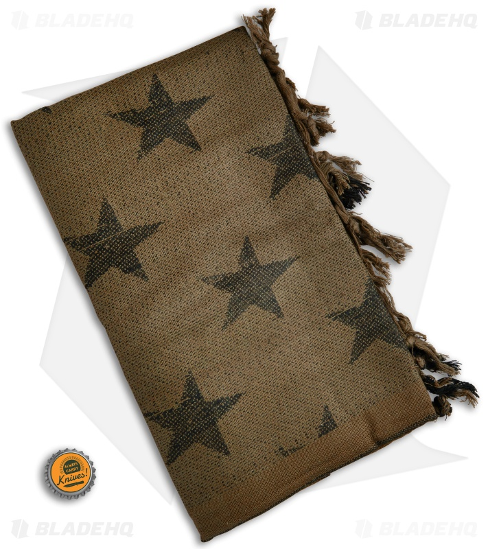Camcon Shemagh Head Scarf USA Stars (Coyote Brown Black) - Blade HQ c7206df7856