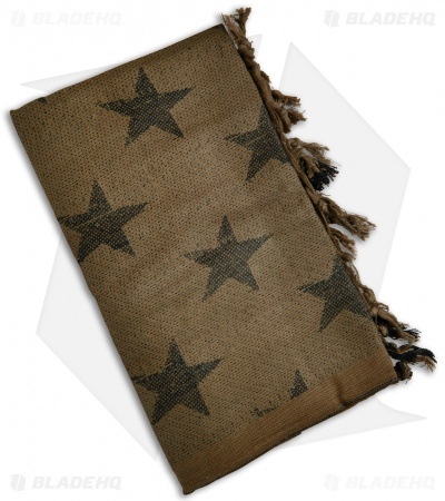 Camcon Shemagh Head Scarf USA Stars (Coyote Brown/Black)