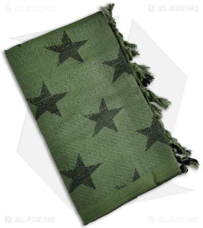 Camcon Shemagh Head Scarf USA Stars (Olive/Black)