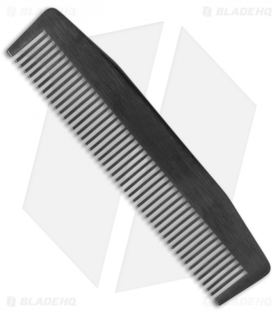 Chicago Comb Co. Model 3 Stainless Steel Comb - Black