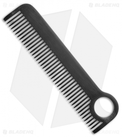 Chicago Comb Co. Model 1 Stainless Steel Comb - Black