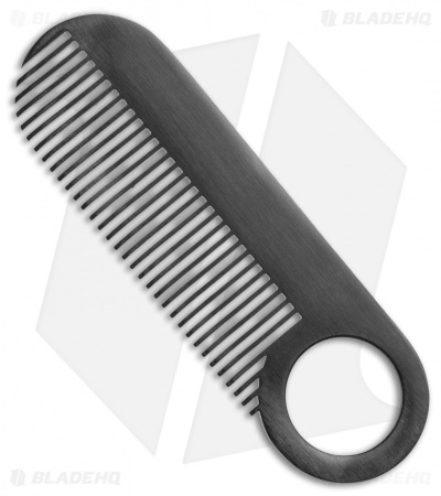 Chicago Comb Co. Model 2 Stainless Steel Comb - Black