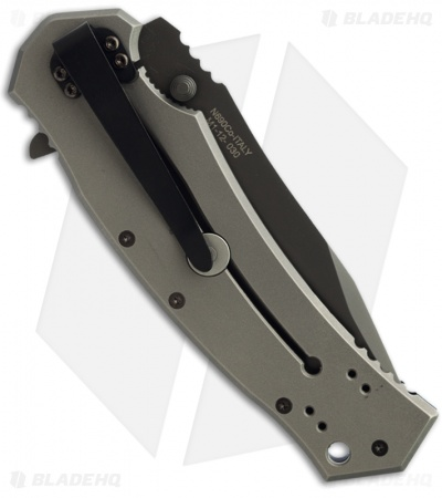 "Combative Edge M1 Clip Point Frame Lock Knife (3.75"" Black)"