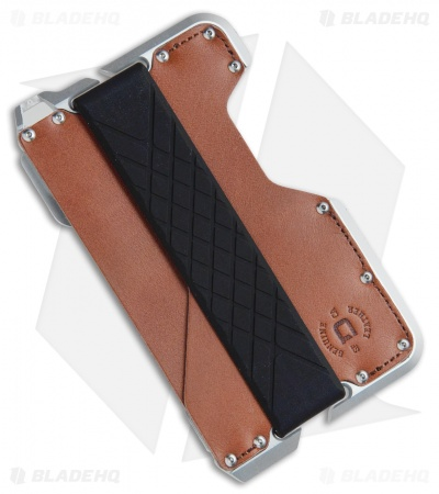 Dango Dapper Wallet D01 Golden Whiskey Leather / Tumbled Aluminum