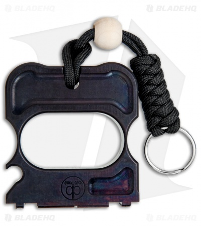 DB Customs Freedom Stamp Dual Knuck Bottle Opener Keychain Black Aluminum