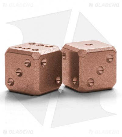 "Flytanium Cuboid Large 3/4"" Copper Dice - Stonewash (Set of 2) D6 Cu 19mm"