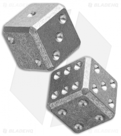 "Flytanium Cuboid Large 3/4"" Titanium Dice - Stonewash (Set of 2) D6 19mm"