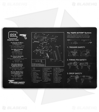 "Glock Black Gunsmith's Bench Mat 17"" x 11"" AD00062"
