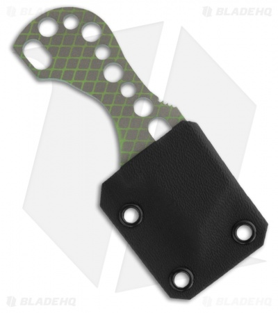 Gray Precision Chillzell Titanium Neck Knife (Toxic Green / Bead Blast)