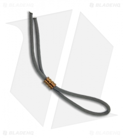 Gray Precision Ringer Titanium Bead Lanyard Pull (Polished Bronze)