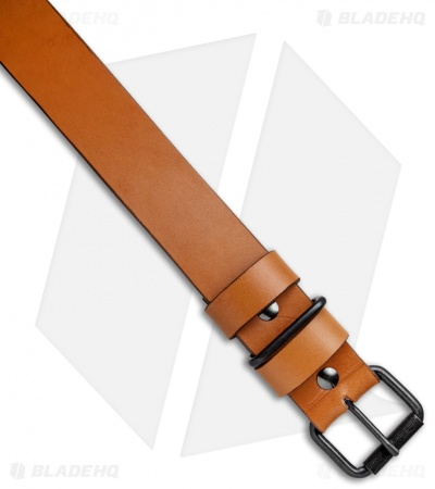 "Greg Stevens Design Standard Leather Belt - 1.5"" Width / Tan"