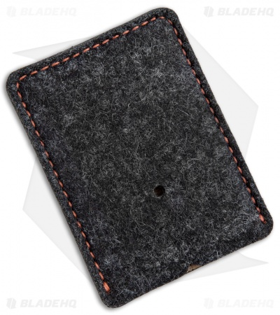 Greg Stevens Design Wooly Slim(mer) Wallet Black/Orange Leather