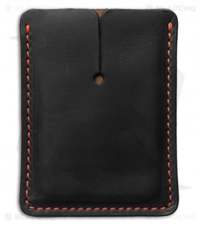 Greg Stevens Design Slim(mer) Wallet Black/Orange Leather