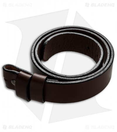 "Greg Stevens Design Standard Leather Belt - 1.5"" Width / Brown"