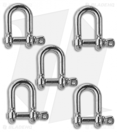 "Grindworx 1"" Anchor Shackle Clasp (Silver) Set of 5"