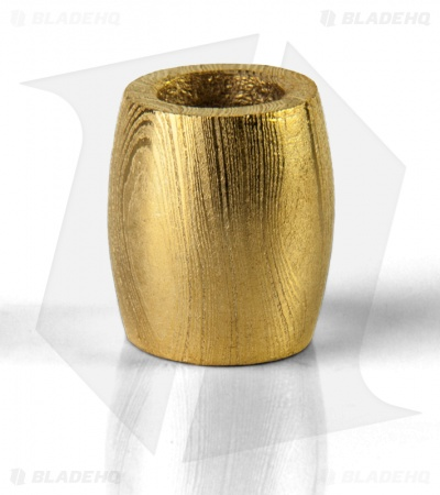 Grindworx Convex Barrel Bead (Gold Plated Damascus)