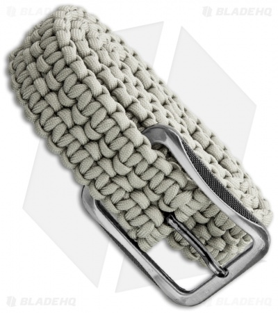 Grindworx Small Survival Paracord Belt Double Wide Solomon (Light Grey)