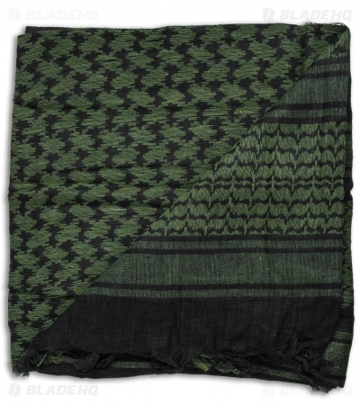 Grindworx Black / Olive Green Shemagh Head Scarf