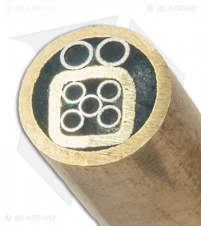 "Brass Mosaic Handle Pin 6"" x 1/4"" (Black) #2"