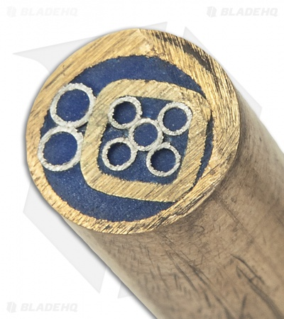 "Brass Mosaic Handle Pin 6"" x 1/4"" (Blue) #9"