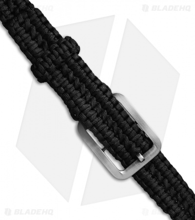 Grindworx Medium Survival Paracord Belt Double Wide Solomon (Black)