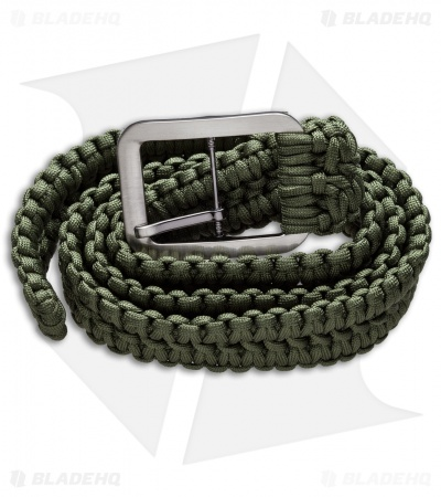 Grindworx Small Survival Paracord Belt Double Wide Solomon (OD Green)