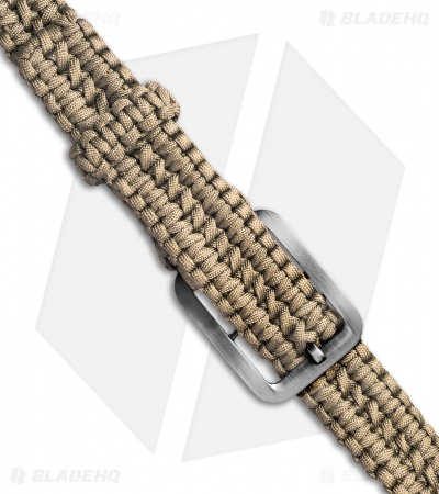 Tallen Small Survival Paracord Belt Double Wide Solomon (Tan)