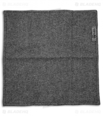 "Hanks by Hank 10"" x 10"" Handkerchief -  Gray Flannel"